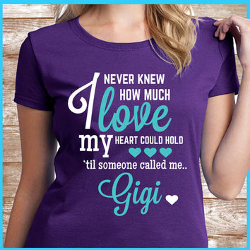 Gigi Shirt A great grandmother gift for your Gigi. Also names such as Nana & Mimi.  This is a great gift for Gigi