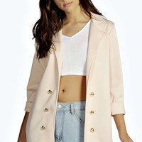 Kaylee Longline Button Military Duster