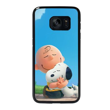 SNOOPY AND CHARLIE BROWN THE PEANUTS Samsung Galaxy S7 Edge Case Cover