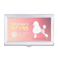Pet Care Sitting Bathing and Grooming Beauty Salon Business Card Case