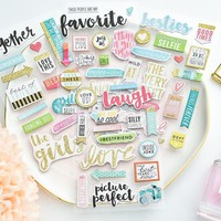 My Friends 3D Die Cut Self-adhesive Stickers for Scrapbooking Happy Planner/Card Making/Journaling Project