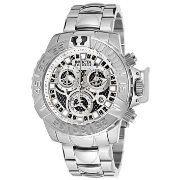 Invicta 14488 Men's Subaqua Noma II Chronograph Silver Black Perforated Dial Dive Watch