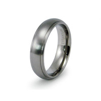 Sawyer's Satin Finish Titanium Wedding Band