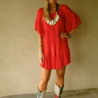Cowgirl Ruffle Dress