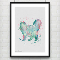 Cat Poster, Watercolor Art Print, Kids Room Decor, Minimalist Home or Office Decor, Gift Idea, Not Framed, Buy 2 Get 1 Free! [No. 04]