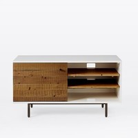 Reclaimed Wood + Lacquer Media Console