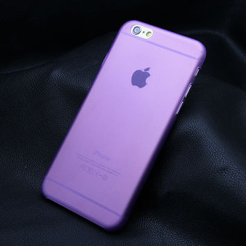 Purple Ultra-thin 0.3mm Matte Transparent Protective Back Case Shell Cover For iPhone 4 4S 5 5S 5C SE 6 6s 6 Plus 6s Plus 7 7 Plus