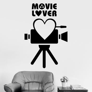 Vinyl Wall Decal Movie Lover Film Cinema Camera Art Decor Stickers Unique Gift (ig3194)