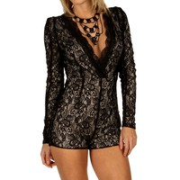 Sale-black Vixen Lace Romper