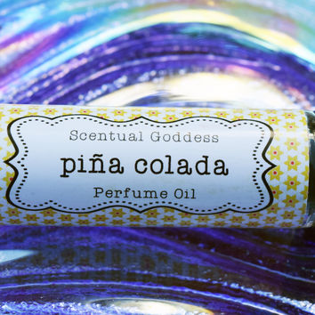 """PINA COLADA Perfume Oil - Sweet Juicy Pineapple & Coconuts - Great Afternoon """"Pick Me Up"""" Scent"""