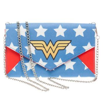 Wonder Woman Envelope Clutch Wallet