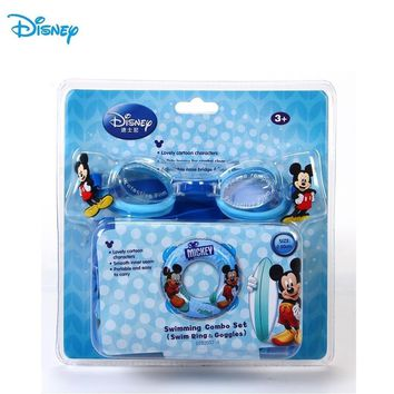 Disney Mickey Children Swiming Ring and Goggle set Outdoor Funny Family game Small Kid Swim Rings D702037-A