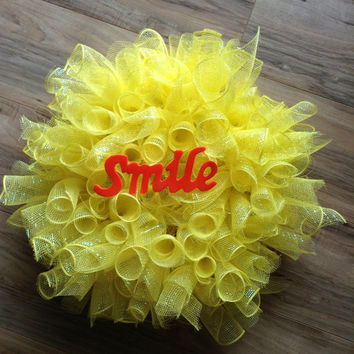 Bright and cheerful curly sun wreath