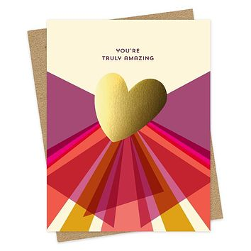 Gold Heart Amazing Card