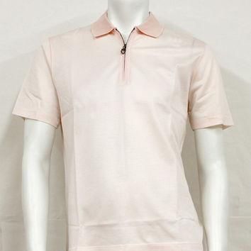 Salvatore Ferragamo Light Pink Polo Shirt 12-8132PK Large