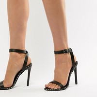 Steve Madden Piercing Stud Trim Barely There Sandal at asos.com
