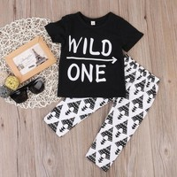 Wild One 2pcs Toddler Outfit Set
