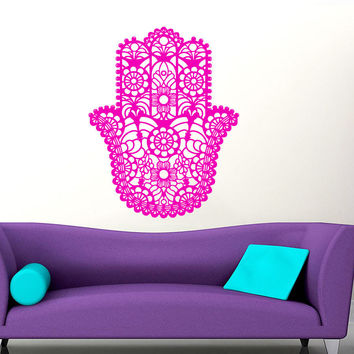 Home Wall Stickers Vinyl Decals Yoga Fatima Hand Hamsa
