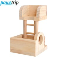 Wooden Climbing Ladder Lookout Tower Exercise Toy for Rat, Mouse, Gerbil, Hamsters