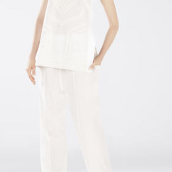 White BCBG Women's Runway Rachelle Top