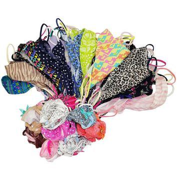 8color Gift full beautiful lace Women's Sexy lingerie Thongs G-string Underwear Panties Briefs Ladies T-back  6pcs/Lot