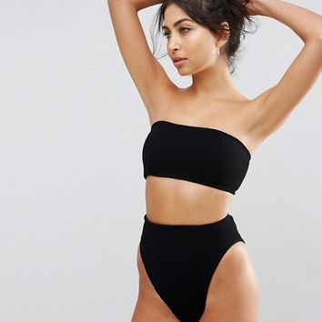 ASOS Mix and Match Crinkle Bandeau Bikini Top at asos.com
