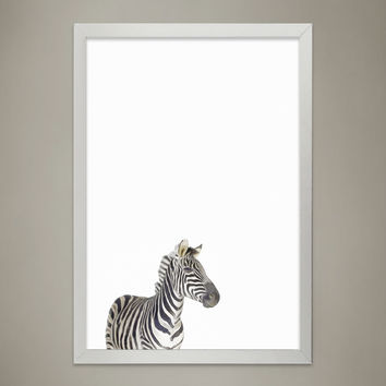 Baby ZEBRA Animal Print Nursery wall decor, Wall Art for Children's room, Baby Room Decor, Watercolor Animal Illustrations