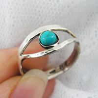Turquise sterling silver ring. Eye of ra ring. Egyptian ring. Turquoise ring (sr-9628) Turquoise jewelry, Egyptian jewelry