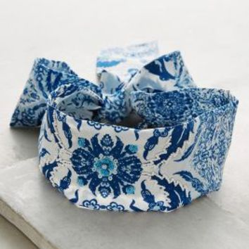 Firenze Turban Band by Anthropologie in Blue Size: One Size Hair