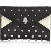 Alexander McQueen - Studded leather cardholder