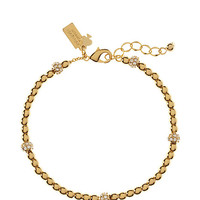 Kate Spade Charm Ball Bracelet Clear/Gold ONE