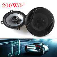 Universal 5-Inch 200W 2-Way Max 4OHM Car Audio Coaxial Vehicle-Door SubWoofers Loud Car Speakers