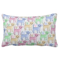 Chihuahua Lover Colorful Pattern Pillows