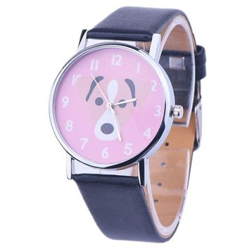2017 Watch Women Wristwatch Casual Fashion Female Cute Pig Faux Leather Quartz Wrist Watch Bracelet for Women Clock Female #527