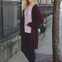 Autumn Affair Cardigan - Plum