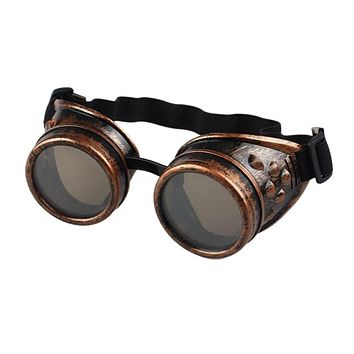 Welding Cyber Punk Vintage Sunglasses Retro Gothic Steampunk Goggles Glasses Men Sun Glasses Plastic Adult Cosplay Eyewear