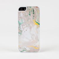 iPhone case in Marble Design Yellow 2