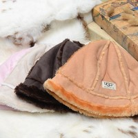 """UGG"" Winter wool Leather Women & Men Hat Fashion"