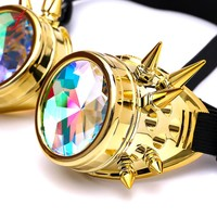 Unisex Retro Steampunk Glasse Kaleidoscope 2018 Kaleidoscope Colorful Glasses Rave Festival Party EDM Sunglasses Diffracted Lens