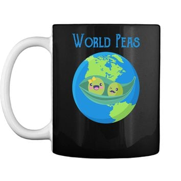 World Peas - Funny World Peace Pun T Shirt Earth Day Tee Mug