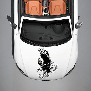 TRIBAL EAGLE BIRD WINGS ART DESIGN HOOD CAR VINYL STICKER DECALS GRAPHICS SV4906