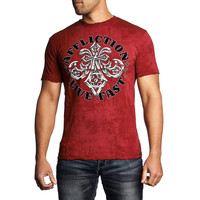 Affliction Men's Royal Lord Reversible S/S T-Shirt Red