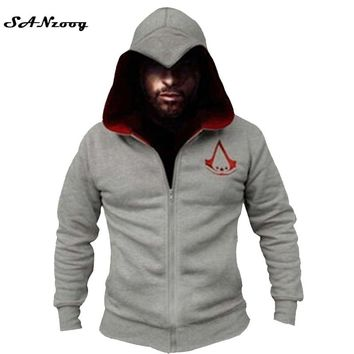 Fashion Men Assassins Creed Hooded Sweatshirt Hombre Autumn Winter