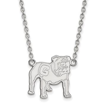 NCAA Sterling Silver U of Georgia Large Pendant Necklace