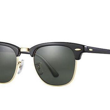 PEAPGE2 Beauty Ticks Ray Ban Clubmaster Sunglass Black With G-15 Lens Rb 3016 W0365