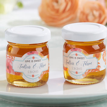 Personalized Clover Honey Wedding Favor