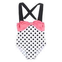 hot Summer Kids Baby Girls Dot Swimwear Swimsuit Bikini Set Swimming Costume Tankini Age 2-10Y