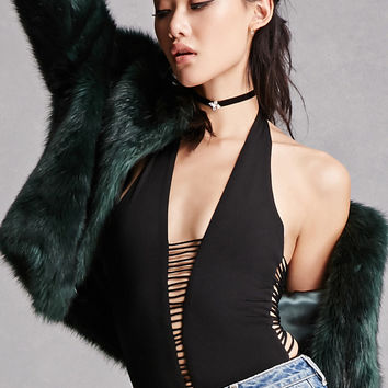 Caged Plunging Bodysuit