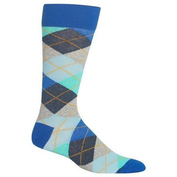 Men's Argyle Crew Socks