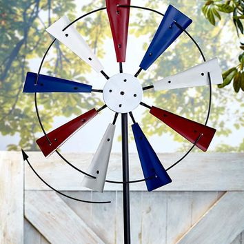 Patriotic or Butterfly Garden Spinner Metal Over-sized Windmill Garden Yard Decor